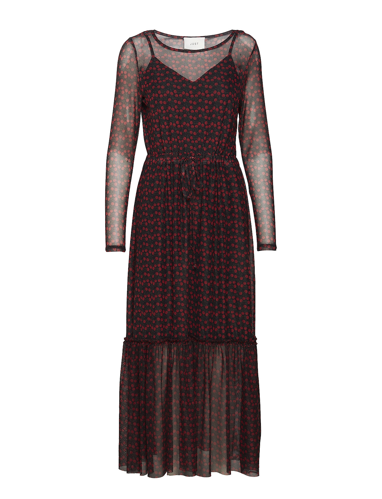 Image of Alley Maxi Dress Maxikjole Festkjole Rød Just Female (3197188617)