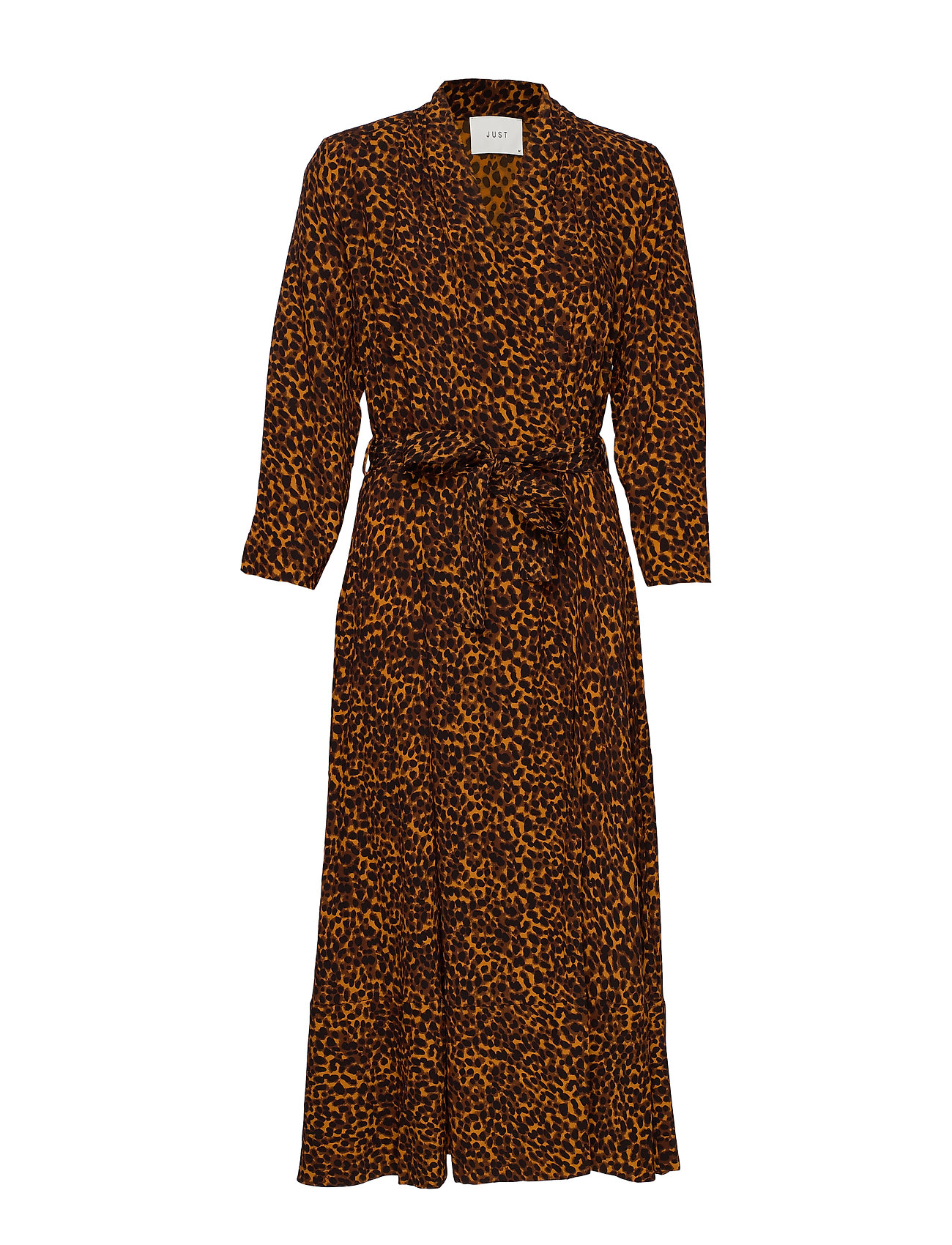 Just Female Coca wrap dress - BROWN ANIMAL