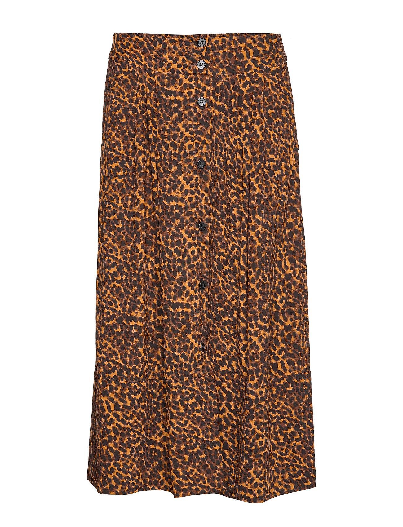 Just Female Coca skirt - BROWN ANIMAL