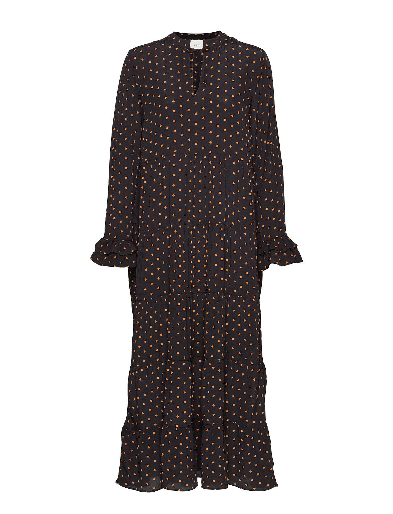 Just Female Musette maxi dress - DOT AOP