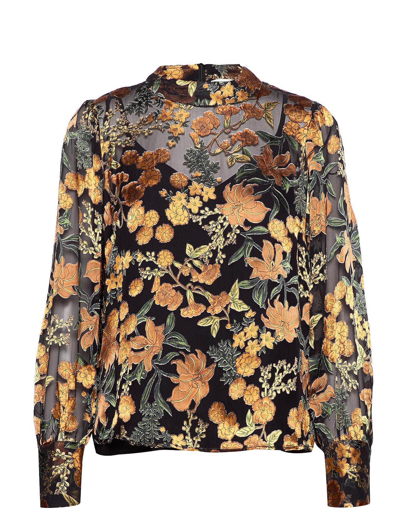 Just Female Mirador blouse - GOLDEN FLOWER AOP