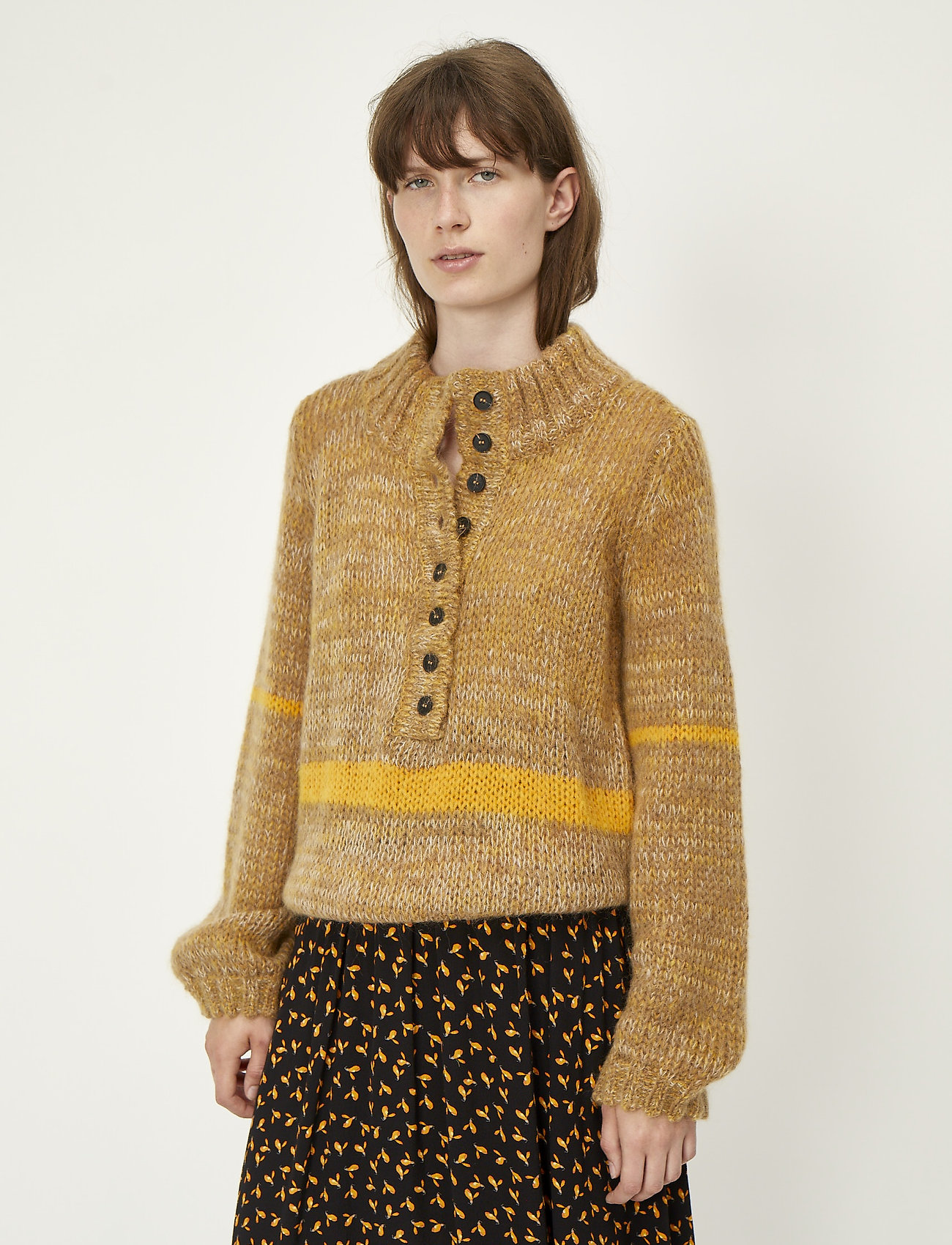 Just Female - Dolly high neck knit - turtlenecks - nature combo - 0