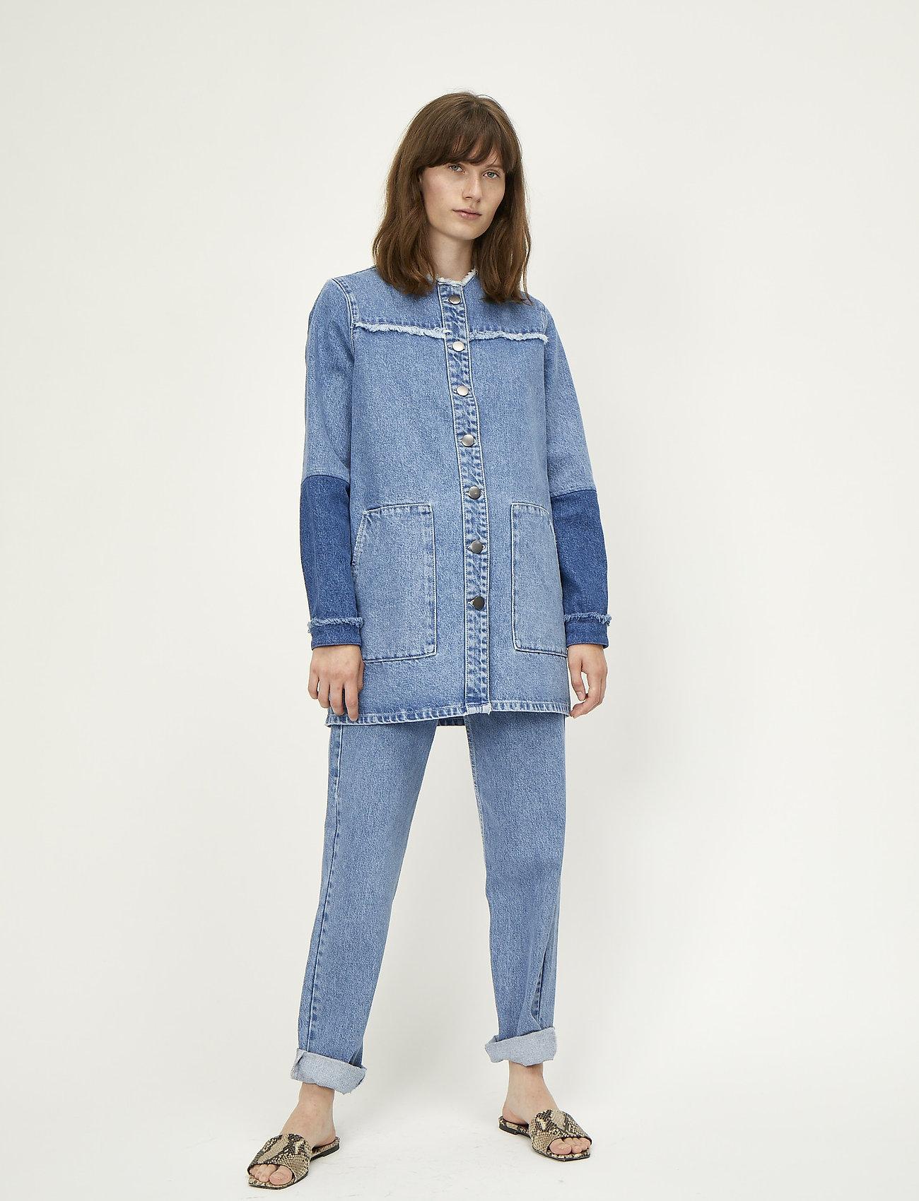 Just Female - Norma denim jacket - denimjakker - blue denim - 0