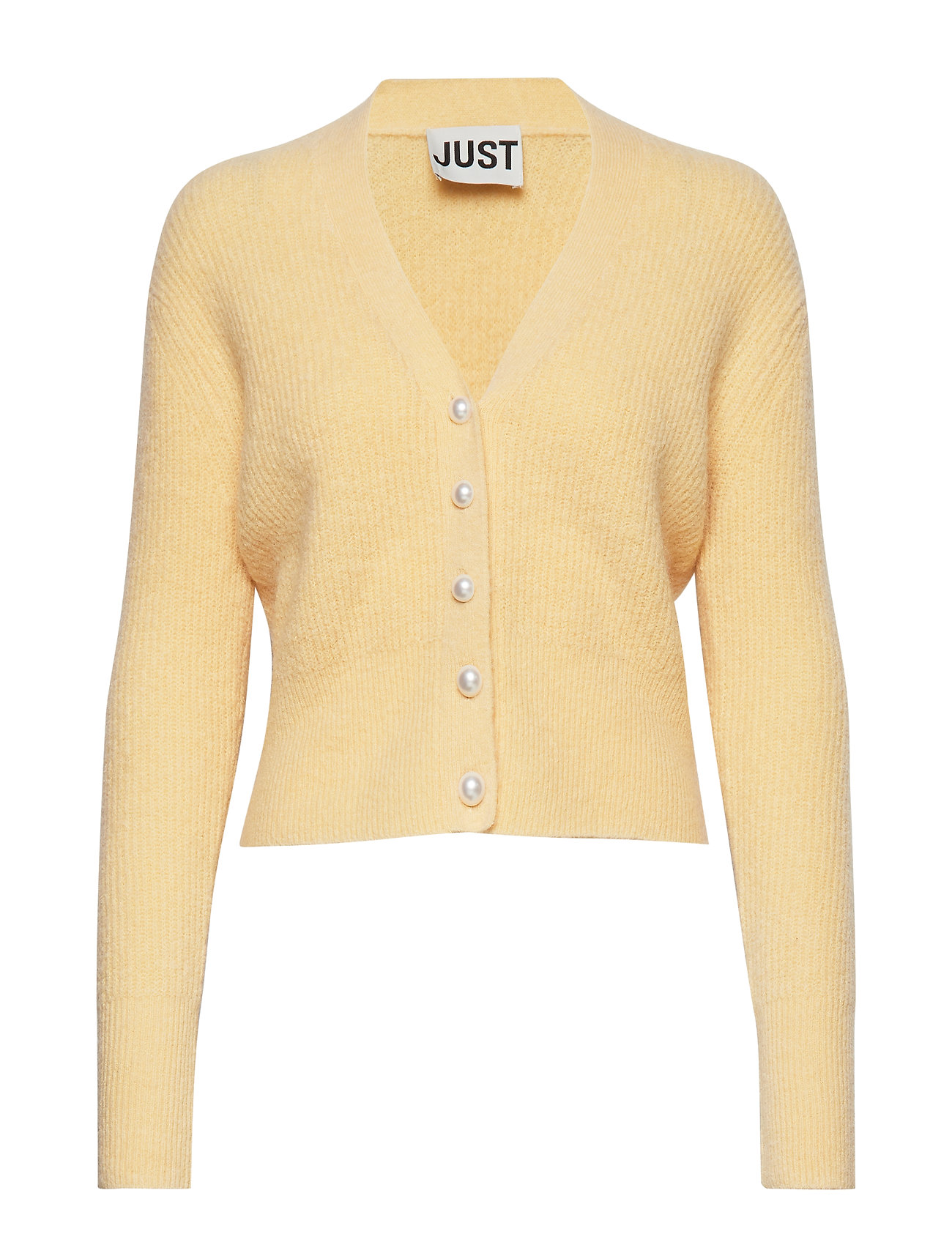 Just Female Rebelo pearl cardigan - BANANA CREPE