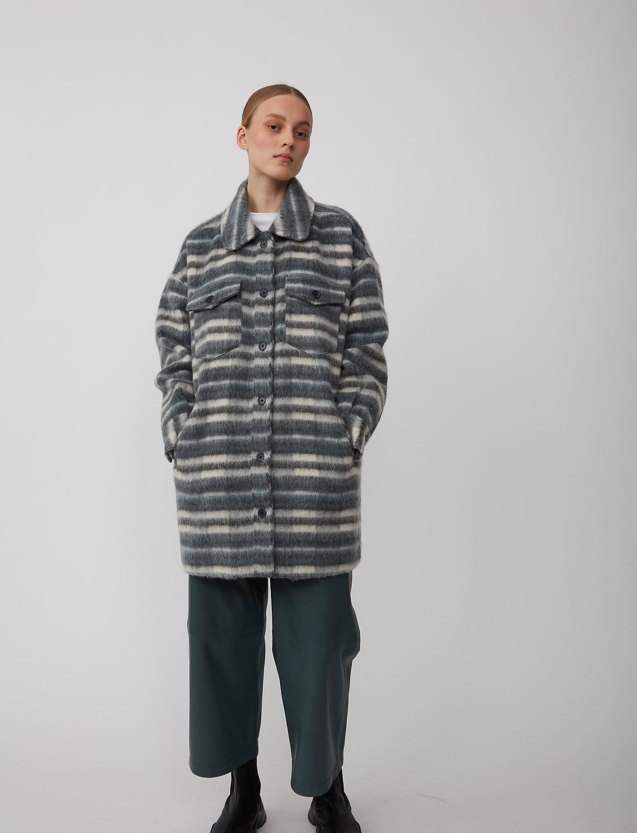 Just Female - Gail jacket - wool jackets - balsam check - 0