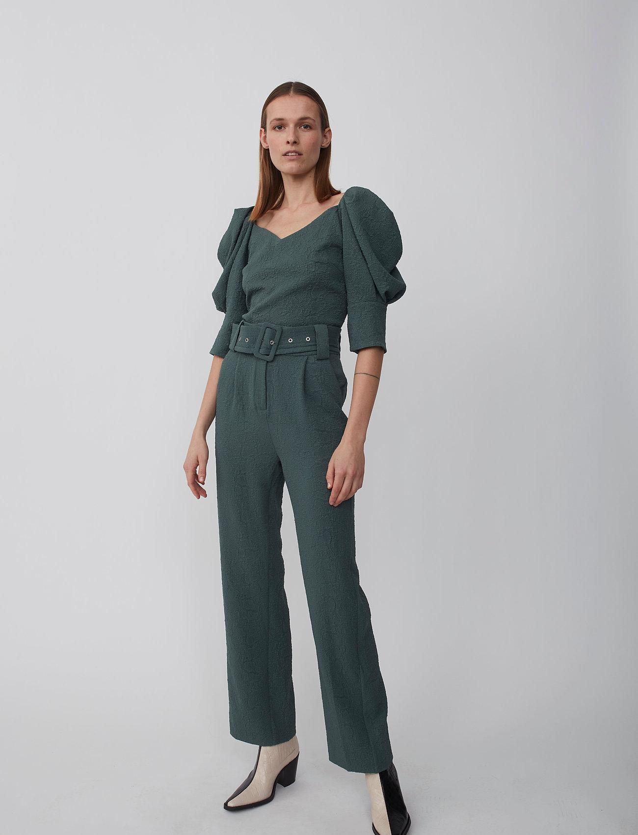 Just Female - Bonnie trousers - bukser med brede ben - balsam green - 0