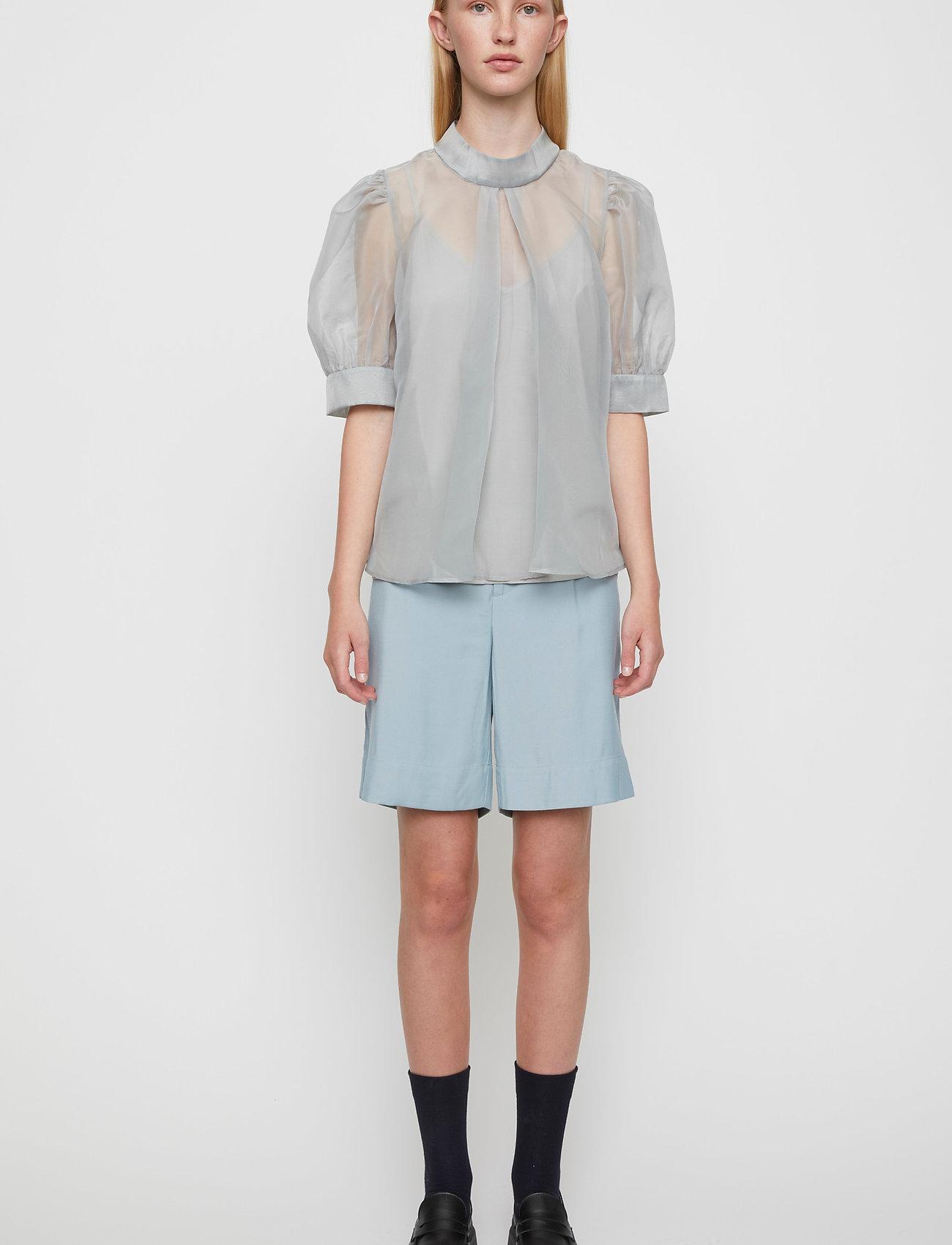 Just Female - Marissa blouse - kortärmade blusar - ballad blue - 0