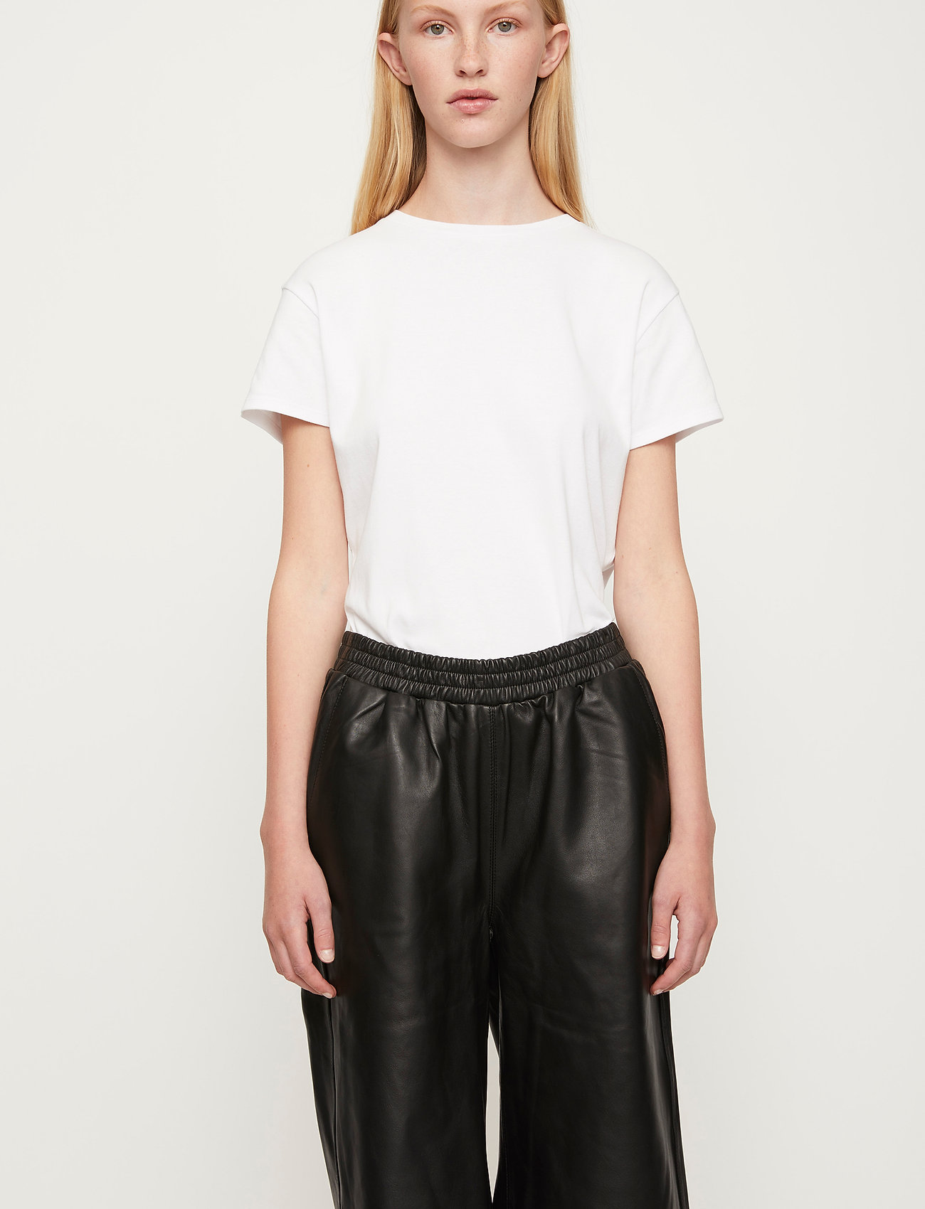 Just Female - Paso leather bermuda - leather shorts - black - 0