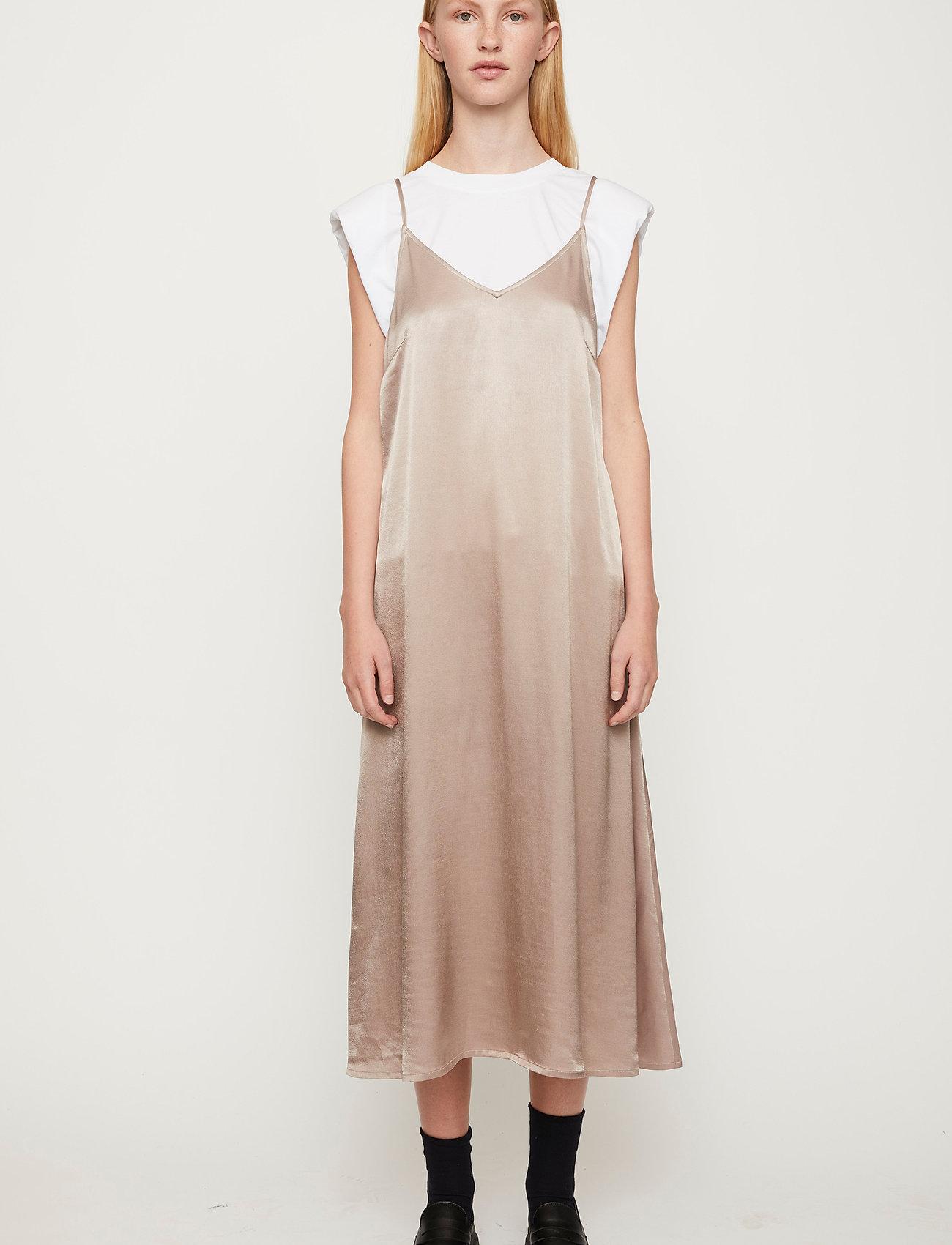 Just Female - Delta singlet dress - midiklänningar - fungi - 0