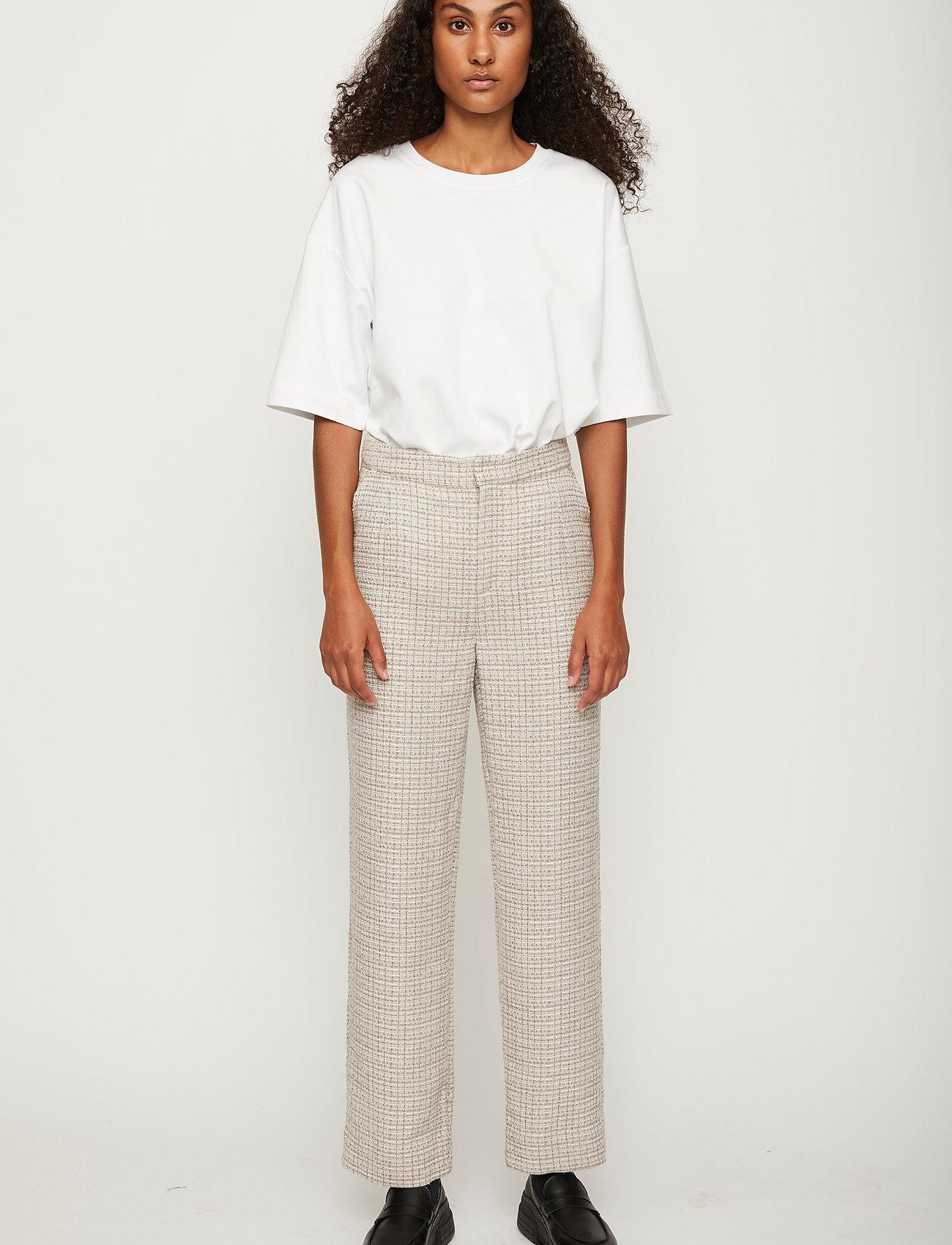 Just Female - Metz trousers - raka byxor - ice grey stone mix - 0
