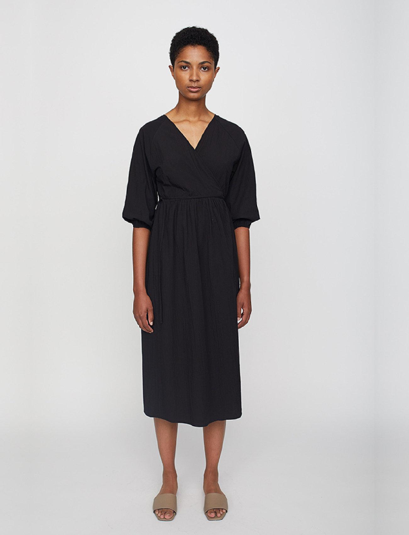 Just Female - Oakville wrap dress - midi dresses - black - 0