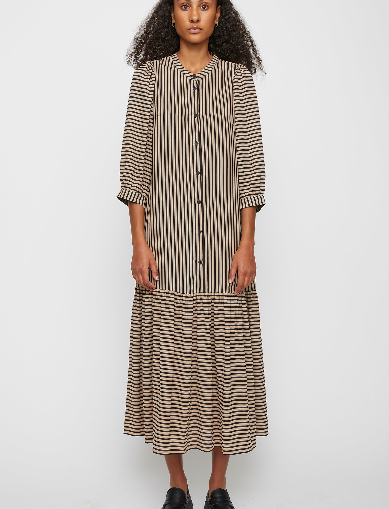 Just Female - Colorado maxi dress - maxi dresses - cobblestone stripe - 0
