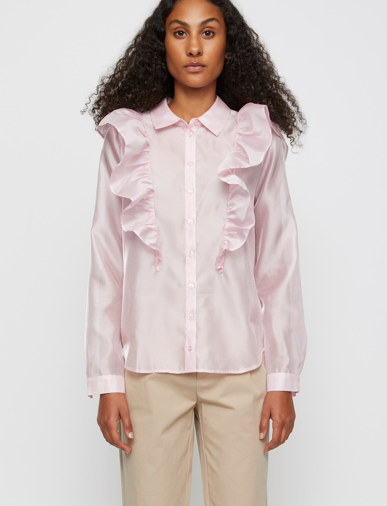 Just Female - Cholet shirt - long-sleeved shirts - pink mist - 0