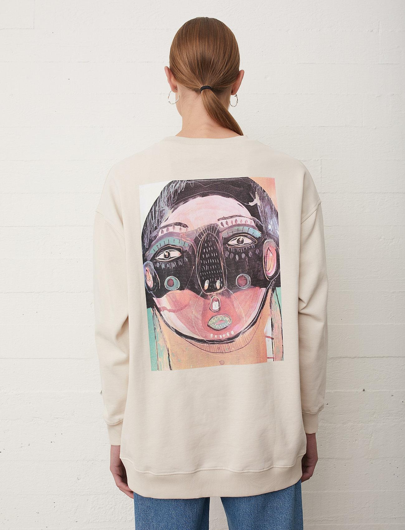 Just Female - Sjulle crewneck - sweatshirts & hoodies - pumice stone - 0