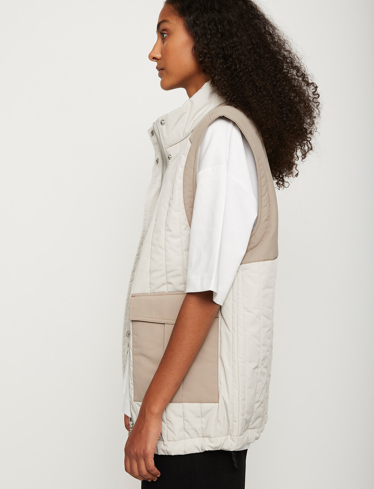 Just Female - Baltimore vest - puffer vests - ice grey combo - 5