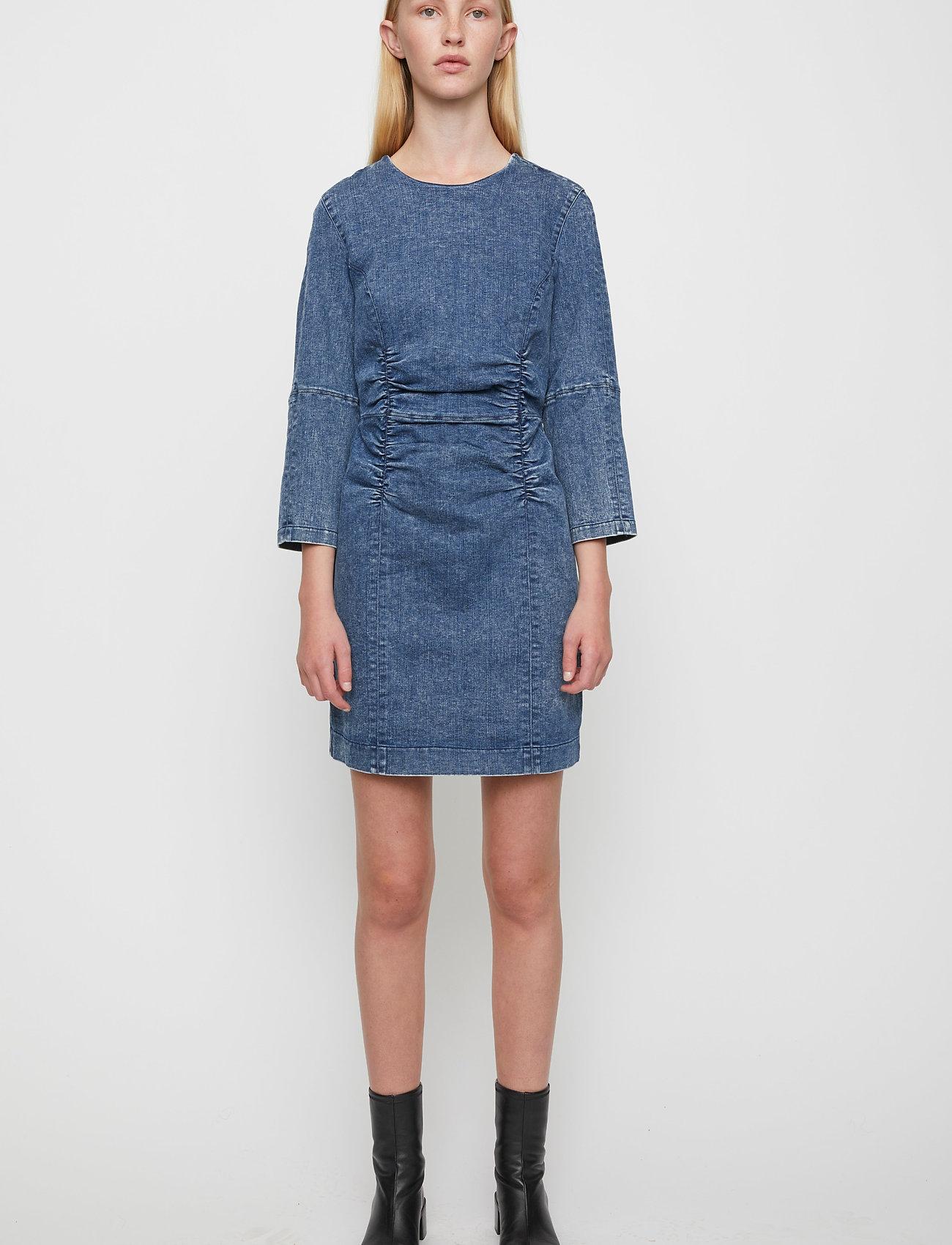 Just Female - Glacier denim dress - bodycon dresses - blue snow - 0
