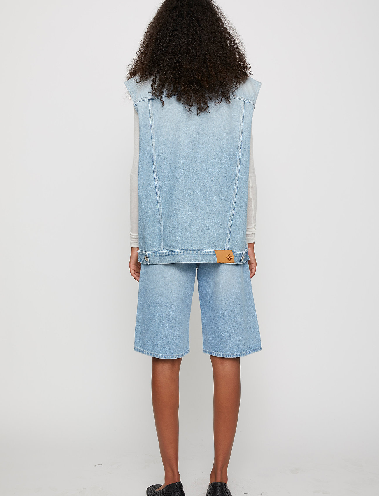 Just Female - Cloud vest 0101 - knitted vests - light waterblue - 4