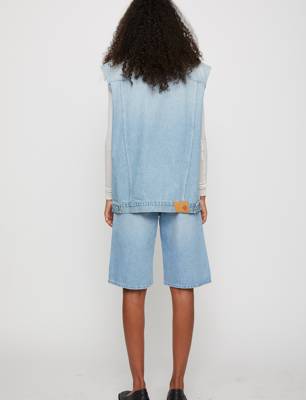 Just Female - Cloud vest 0101 - knitted vests - light waterblue - 5