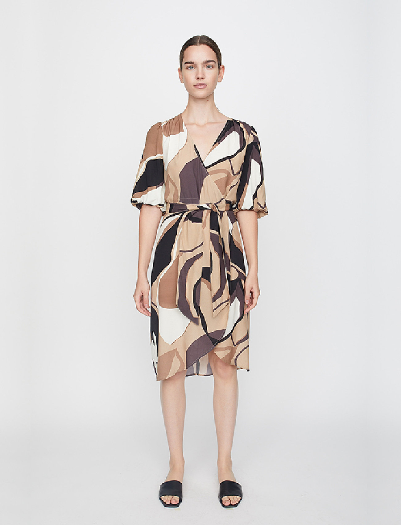 Just Female - Fontana wrap dress - summer dresses - illustrated flowers - 0