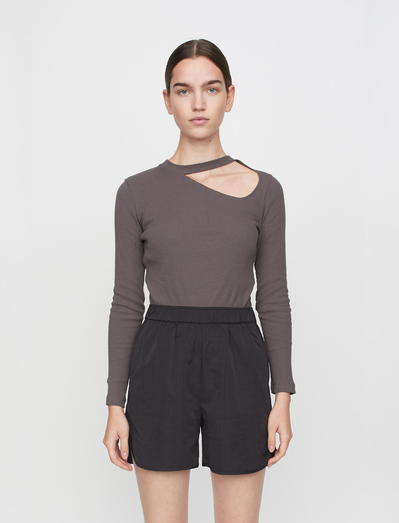 Just Female - Rancho ls tee - t-shirt & tops - pavement - 0