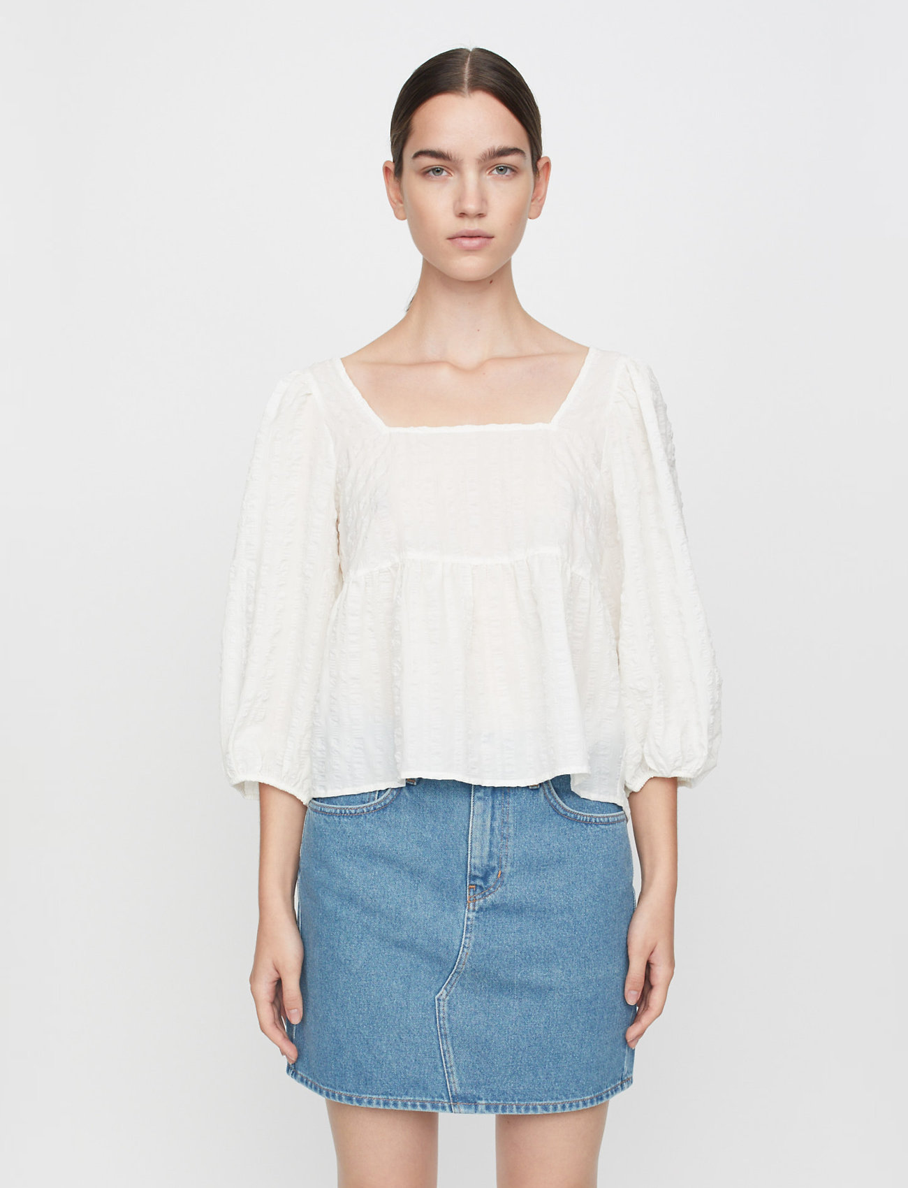 Just Female - Soffia blouse - long sleeved blouses - white - 0