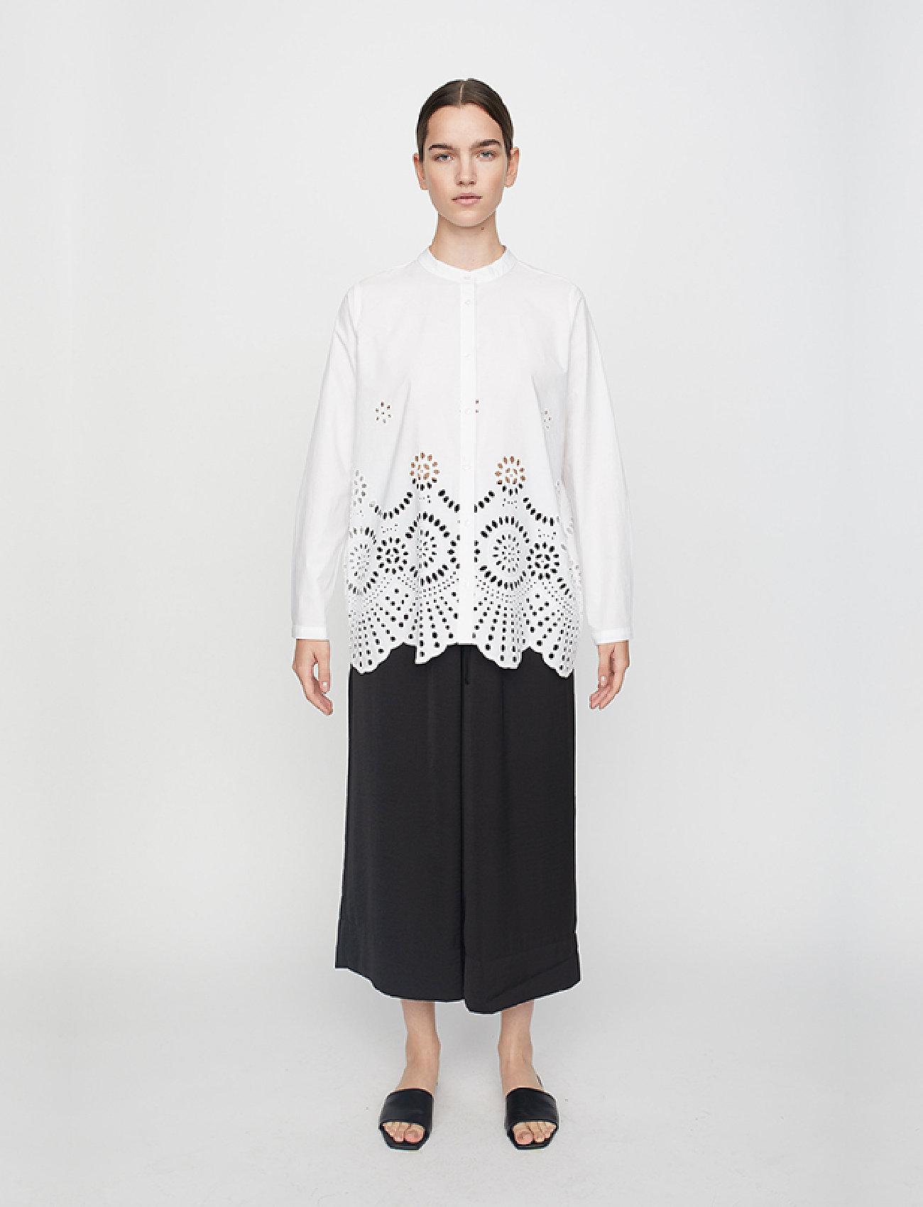 Just Female - Rise shirt - long-sleeved shirts - white - 0