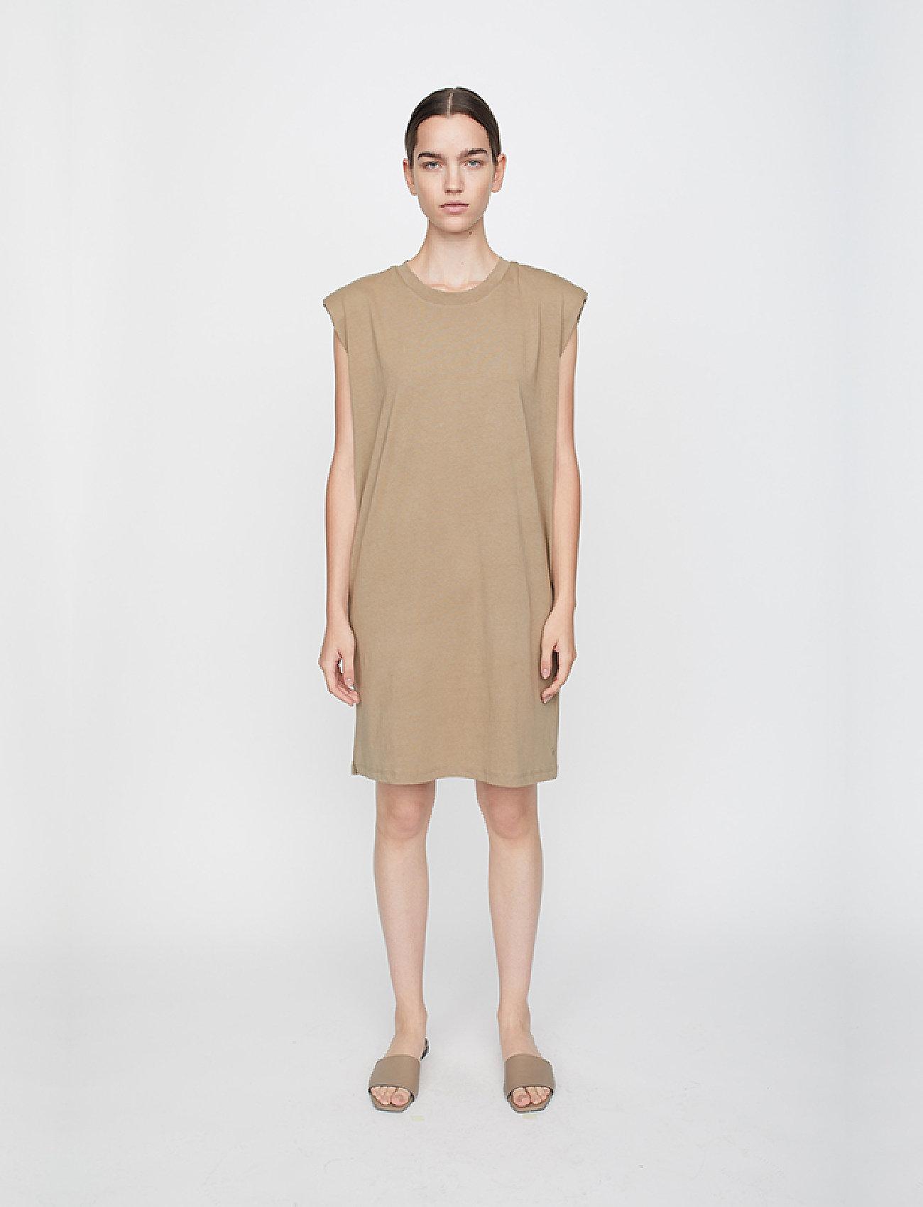 Just Female - Beijing dress - midi dresses - taupe - 0