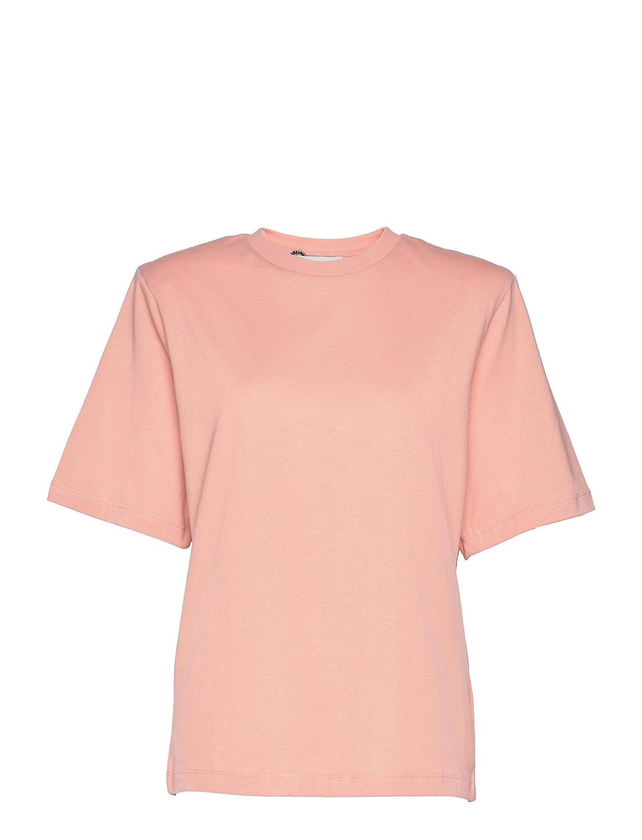 Becker Tee T-shirt Top Lyserød Just Female