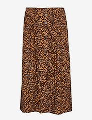 Just Female - Coca skirt - jupes midi - brown animal - 0