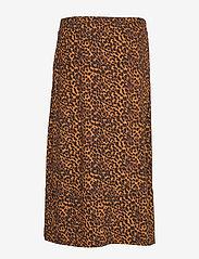 Just Female - Coca skirt - jupes midi - brown animal - 1