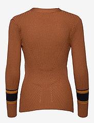 Just Female - Vindis knit blouse - neulepuserot - pumpkin spice comb. - 1
