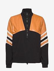 Just Female - Venus track jacket - bomber jakker - black yellow stripe - 1