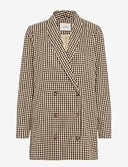 Just Female - Abena blazer - oversize blazers - white and brown check - 0