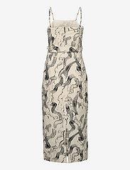 Just Female - Paper strap dress - midiklänningar - paint strokes aop - 1