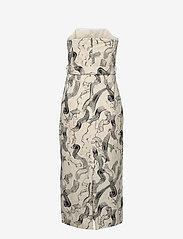 Just Female - Paper strap dress - midiklänningar - paint strokes aop - 3