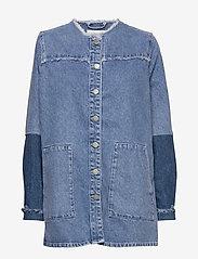 Just Female - Norma denim jacket - denimjakker - blue denim - 1