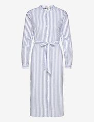 Just Female - Payton long shirt - midi dresses - chambray stripe - 0