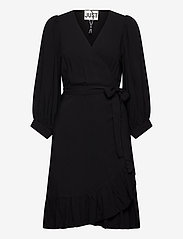 Just Female - Ellery wrap dress - omlottklänningar - black - 0