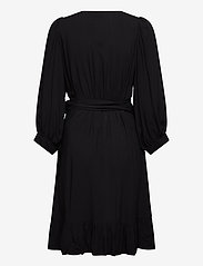 Just Female - Ellery wrap dress - omlottklänningar - black - 1