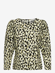 Just Female - Nellie blouse - long sleeved blouses - blurred camo aop - 0