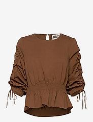 Just Female - Brenda blouse - långärmade blusar - emperador - 1