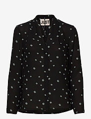 Just Female - Jessie shirt - long sleeved blouses - blue daisy aop - 1