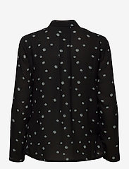Just Female - Jessie shirt - long sleeved blouses - blue daisy aop - 2