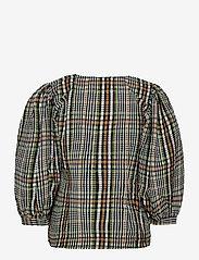 Just Female - Ethel blouse - långärmade blusar - clover check - 2