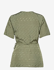 Just Female - Alvina wrap blouse - short-sleeved blouses - clover - 2