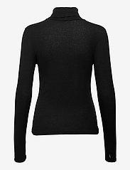 Just Female - Millie ls rollneck - long-sleeved tops - black - 1