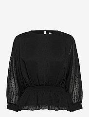 Just Female - Lula blouse - long sleeved blouses - black - 1