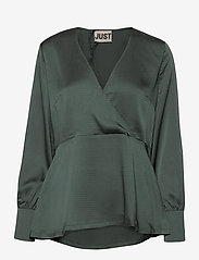 Just Female - Minnie blouse - long sleeved blouses - balsam green - 1
