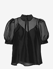 Just Female - Marissa blouse - kortärmade blusar - black - 0