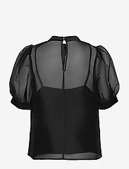 Just Female - Marissa blouse - kortärmade blusar - black - 1